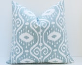 Euro Pillow Sham ONE 26x26 Pillow Cover Blue Green Pillow Decorative Gray Blue Pillow Decorative Throw Pillow Cover