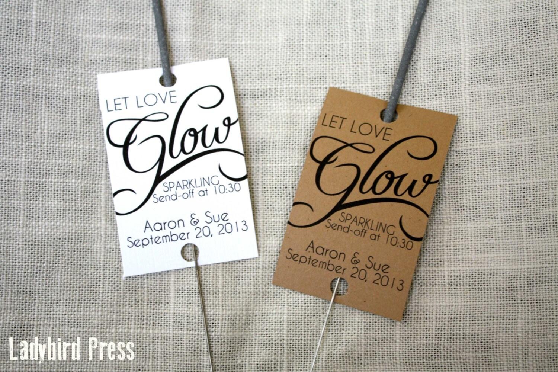 Personalized Printable Wedding Favor Tag For Sparkler Send Off