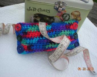 Crochet Oblong Tube Pincushion