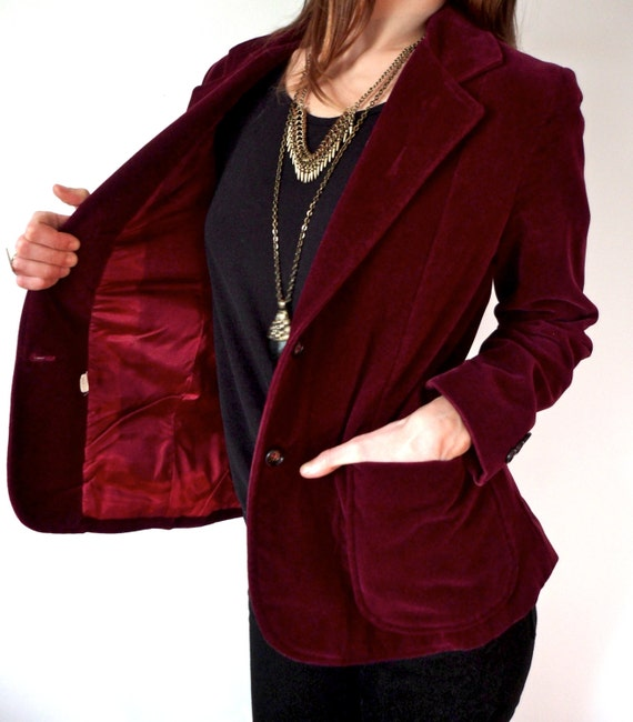 Images of Velvet Blazer Womens - Reikian