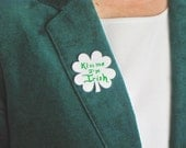 Shamrock Speech Bubble Button ReWriteable Eraseable with magnetic fastener
