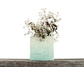 Stacked Block Mint Green Ombre Cache-Pot
