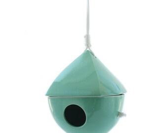 Turquoise Porcelain Birdhouse