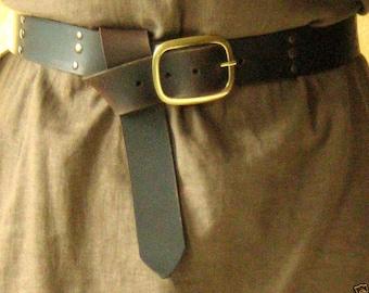 Medieval Celtic Viking Norman Leather Belt