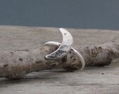 Sterling Silver Moon Ring - Half-Moon Ring - Modern - Everyday Ring - Size 5