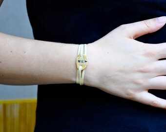 Womens Personalized Bracelet - Gold or Silver Valentine's Day Gift!