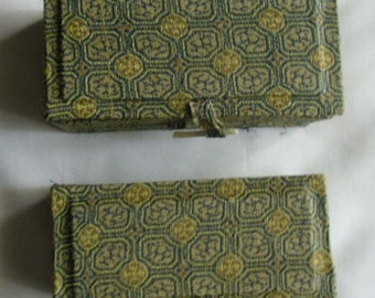 Vintage Oriental Fabric Boxes / Two Fabric Gift Boxes
