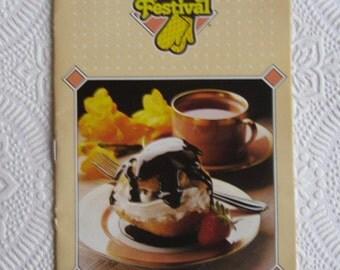Vintage Advertising Cookbook / Robin Hood Baking Festival 1988
