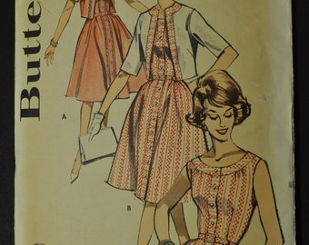Misses' Dress and Jacket Size 14 1/2 Bust 35 Vintage 1960 Sewing Pattern Butterick 9667