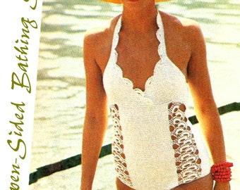 Vintage 70's Crochet Bathing Suit PDF Pattern - INSTANT DOWNLOAD