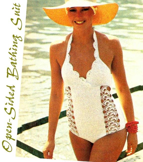 Free Vintage Crochet Bathing Suit Patterns Legitefo For
