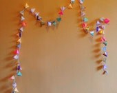 Paper Pyramid Light Garland - CACTUS BLOOM - handmade paper lanterns inspired by the flowers of the desert