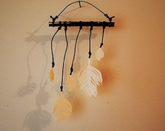Paper Feather Mobile By Societynatlindustry On Etsy