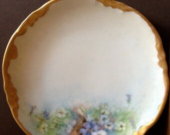 Antique Made in Austria //  Handpainted Floral Porcelain Plate by Eagle China