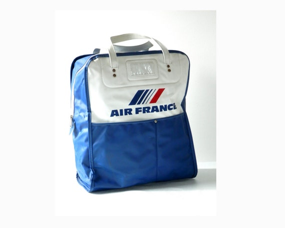 1970s Air France Carry On Luggage Red White And Blue Vinyl