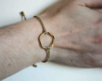 Karma Gold Plated Bracelet