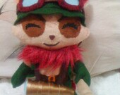 LoL League Of Legends Inspired Captain Teemo felt plush plushie doll