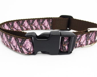 Large Pink Camo Dog Collar