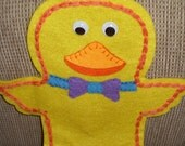Felt Childrens Chick Hand Puppet. Easter Hand Puppet. Hand Made.  Suitable from 36 months / 3 years