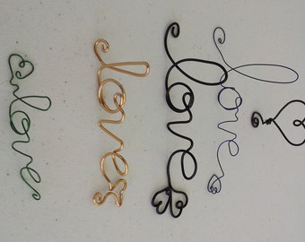 Choose your wire Love ornament OOAK