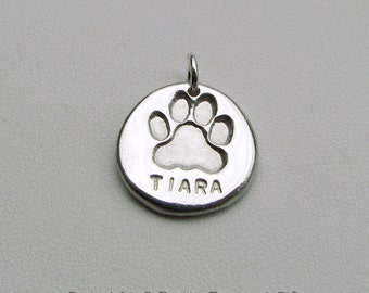 Dog Paw Charm Personalized -  great gift for dog lovers
