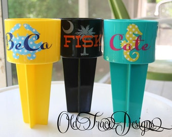 Beach Drink Holder Spiker with two colors - Keep Your Drink, Cell Phone or Keys Sand Free this Summer