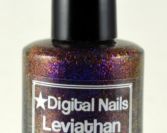 Leviathan: A Multicolored shifting glitter nail lacquer by Digital Nails