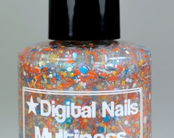 Last Batch! Multipass: a Digital Nails nail lacquer inspired by Leeloo Dallas from The Fifth Element