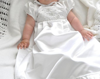 Jocelyn's Custom Christening or Baptism Gown made to order from your Wedding Dress