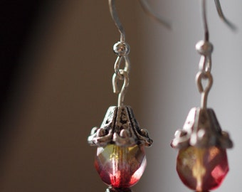 Cascade earrings (pink)