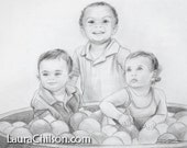 Custom Portraits- 11x14, Black & White or Sepia Drawings