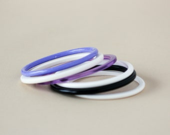 Plastic Stacking Bracelets - Set of 6