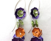 Aluminum Spring/Summer Flower Earrings