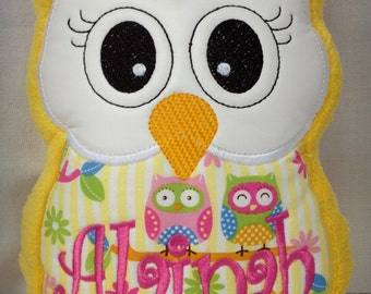 Personalized Owl Reading Buddy Pillow, Soft Toy