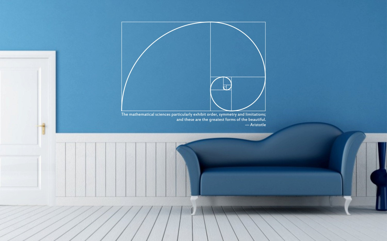 Science Art Mathematics Fibonacci Spiral Amp Aristotle Quote