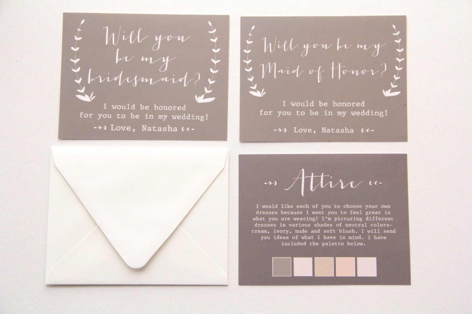 Honor Or Honour On Wedding Invitations: Will You Be My Bridesmaid/ Maid Of Honor/ Matron Of Honor