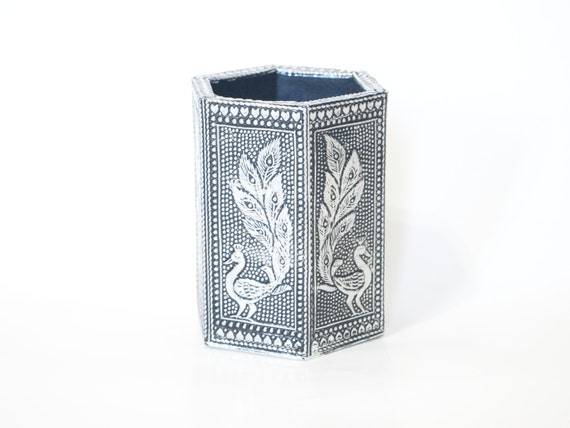 Pen Holder Aluminium Crafted Design Oxidized Pencil By