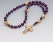 Anglican Rosary - Christian Prayer Beads - Purple Rosary - Religious Gift - Item # 775