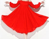 chiffon dress for Women in red