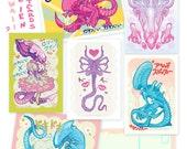 Coey: Cute Xeno Postcards