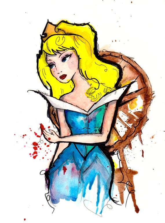 Sleeping Beauty, Disney Princess - 8.5x11 print