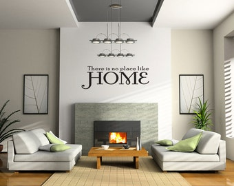 No Place Like HOME Love Family Wall Sticker Decal Quote Vinyl Art Lettering (J197)