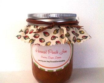 Harvest Peach PIE Jam / Georgia Peach/ Low Sugar/ Gluten Free/4 or 8 oz/ MADE To ORDER/Hostess Gift/ Birthday Gift