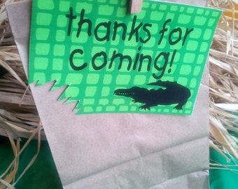 INSTANT Download Gator Printable Favor Tags - Please Read Description Thoroughly - Printable Parties to Go
