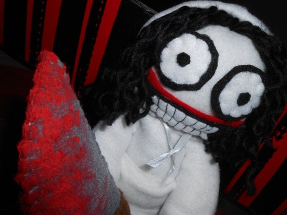 14 Inch Jeff The Killer Plush By KaleidoscopicFungi On Etsy