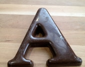 Vintage Capital Letter A Uppercase Small Decorative Wall Hanging