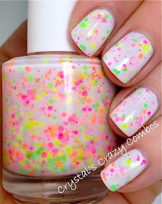 Neon Pink Glitter Nail Polish Neon Glitter Nail Polish /