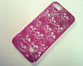 iPhone 5 Sugar Skulls Hot Pink Aluminum case