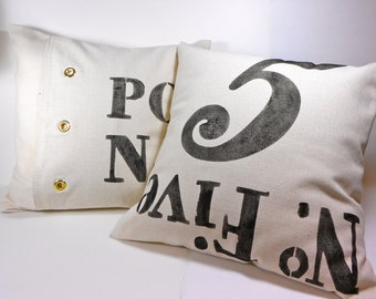 Typography Pillow Cover Printed with Typography No 5 Post Bag details
