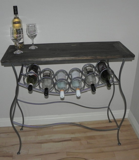 Items Similar To Iron Wine Rack Console Table With